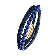 Load image into Gallery viewer, BLUE LEATHER & LAPIS BRACELET