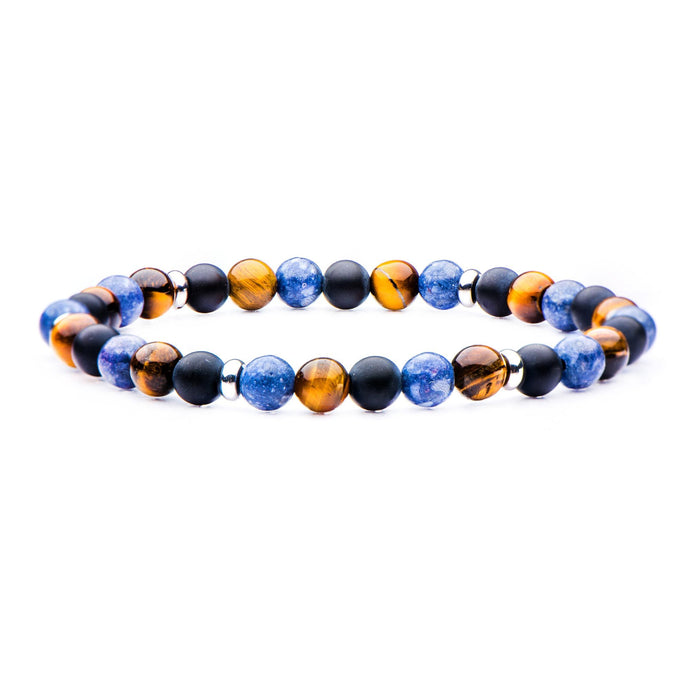AGATE BEADED STRETCH BRACELET