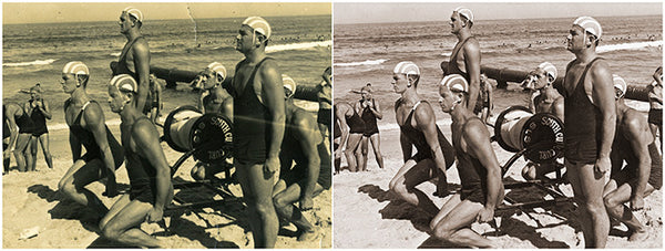 Surf club photo repair example