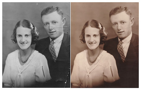 Family photo repair example