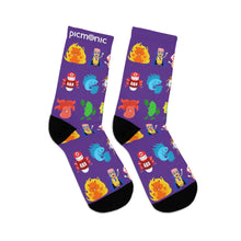 Picmonic Character Socks in Blackberry
