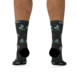 Picmonic Rhinovirus Socks in Black