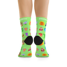 Picmonic Character Socks in Lime