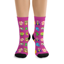 Picmonic Character Socks in Watermelon