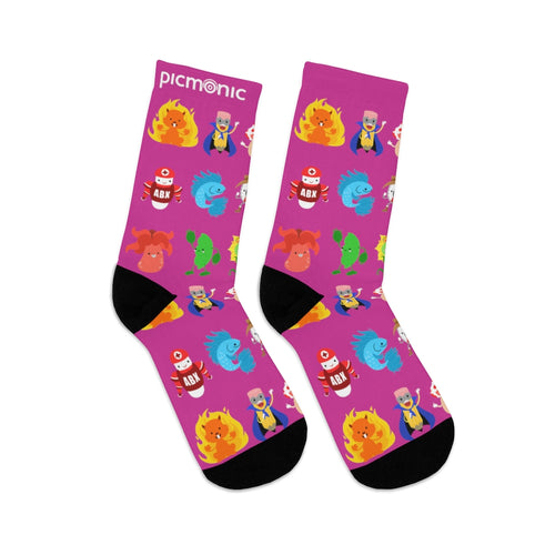 Picmonic Character Socks in Pink