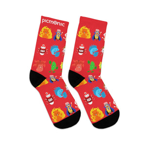 Picmonic Character Socks in Strawberry