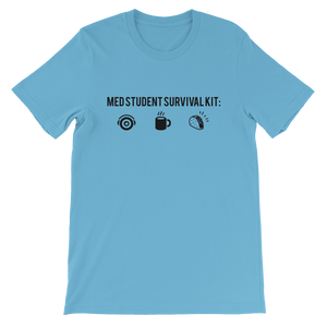 Med Student Survival Kit Short-Sleeve Unisex T-Shirt