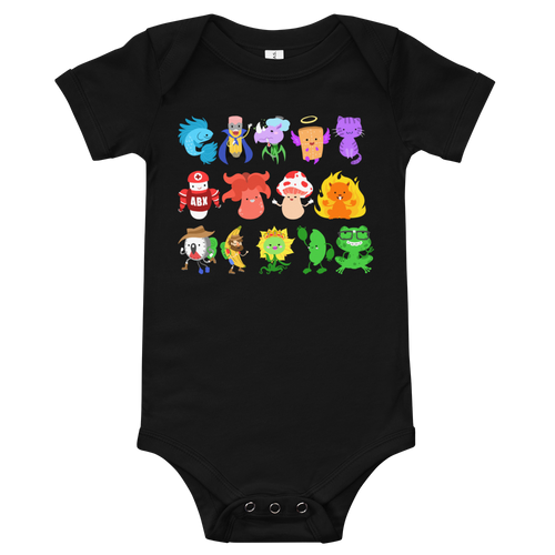 Baby Short Sleeve Character One Piece