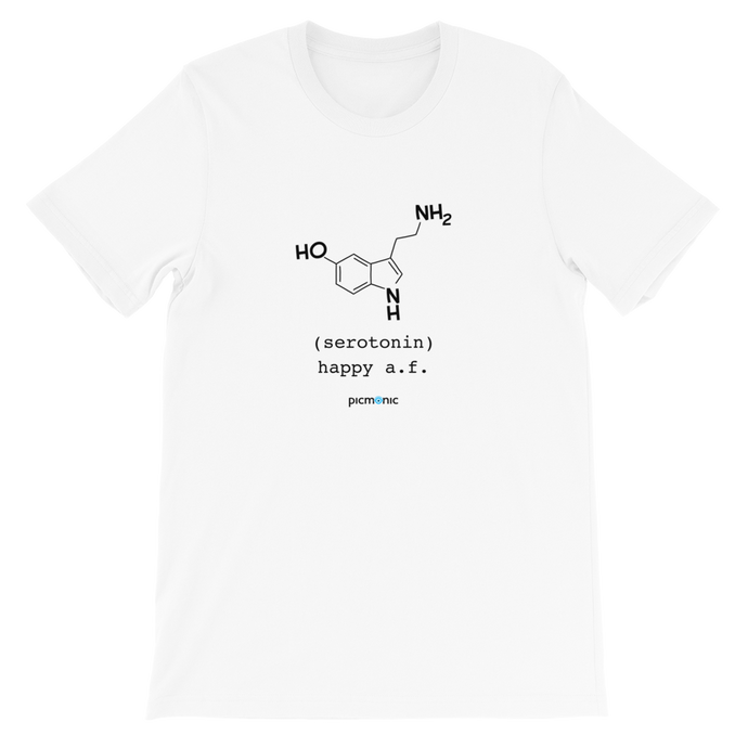 Happy A.F. (serotonin) Short-Sleeve Unisex T-Shirt