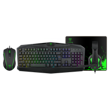 T-DAGGER T-TGS003 Mouse/ Keyboard/Mousepad/Headset 4 IN 1 Gaming Combo Set