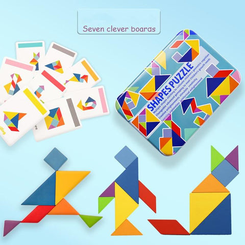 Puzzle the Card & Learn to Read Tangram Puzzle
