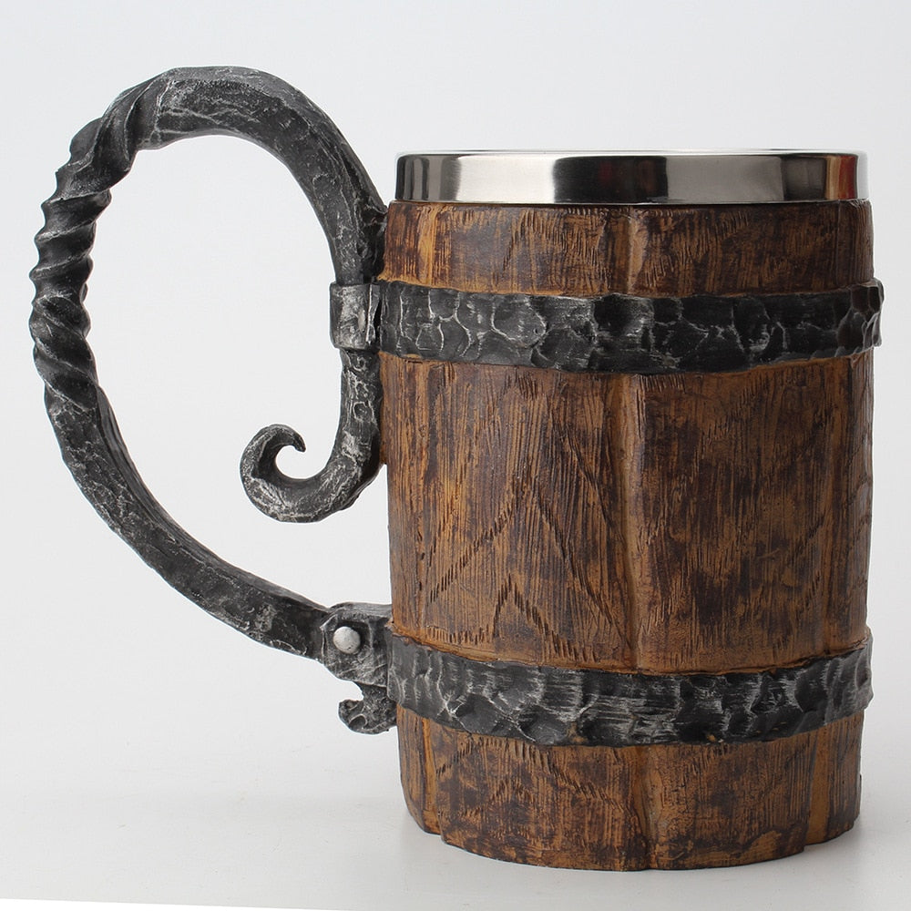 Wooden Barrel Goblet