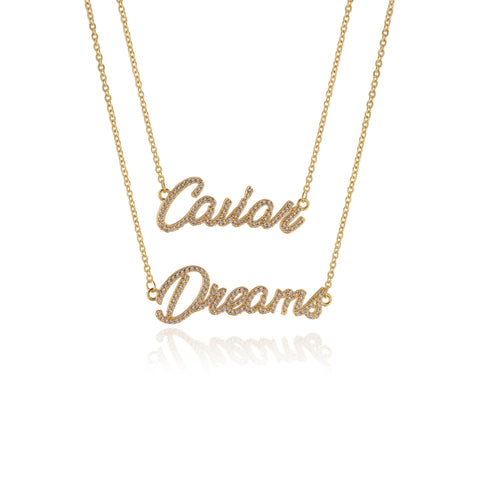CAVIAR DREAMS Gold Layered Necklace