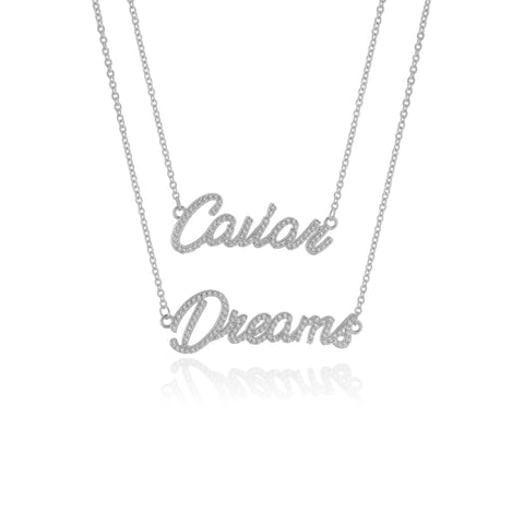CAVIAR DREAMS Silver Layered Necklace