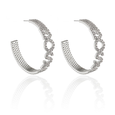 BOSS Hoop Statement Earrings