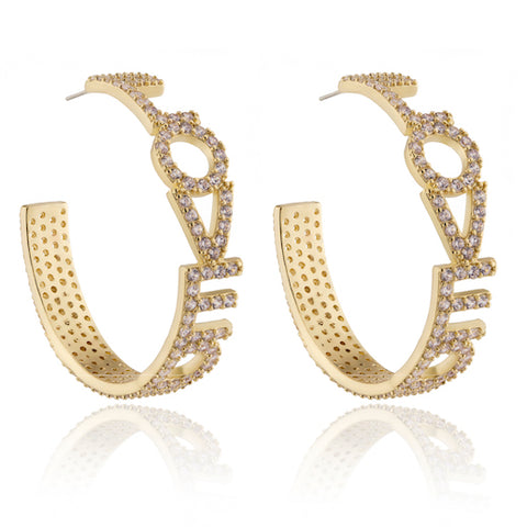 LOVED Hoop Statement Earrings