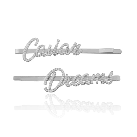 CAVIAR DREAMS Silver Hair Pins Set of 2