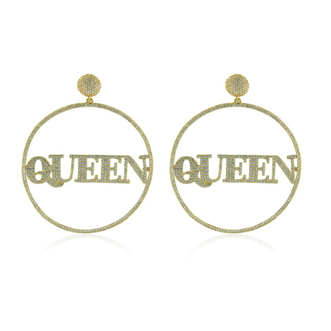 QUEEN Statement Earrings