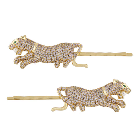 COUGAR HAIR PINS Set of 2