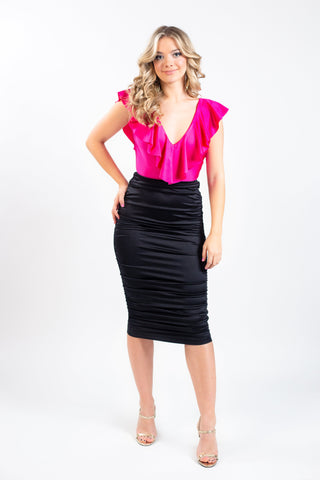 SLENDERELLA ROUCHED PENCIL SKIRT