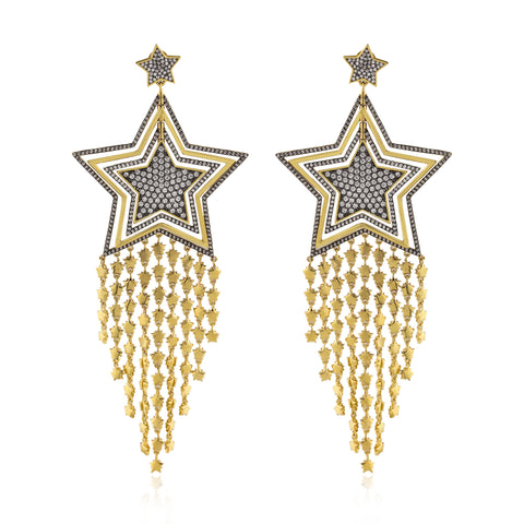 CELESTIAL Spinner Fringed Earrings