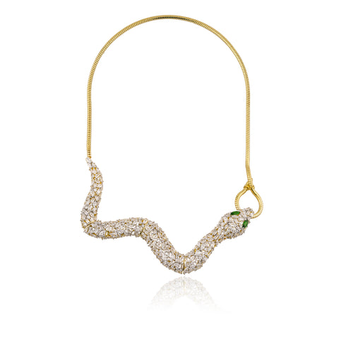 SNAKE Baguette Statement Necklace
