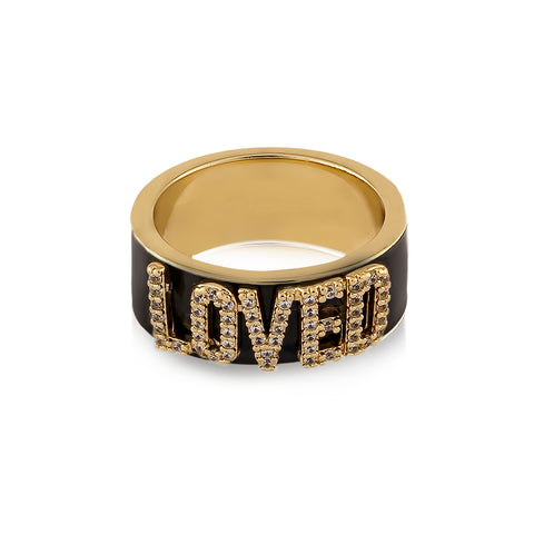 LOVED Statement Ring