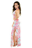 MIAMI HALTER MAXI DRESS