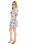 EAST HAMPTON RUFFLE MINI DRESS