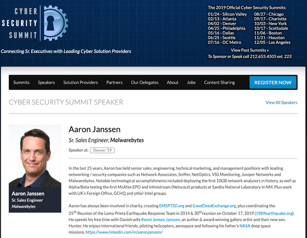Public Speaking - Aaron Janssen - Hourly  / Executive Presentations / Trade Show Panel / Keynote