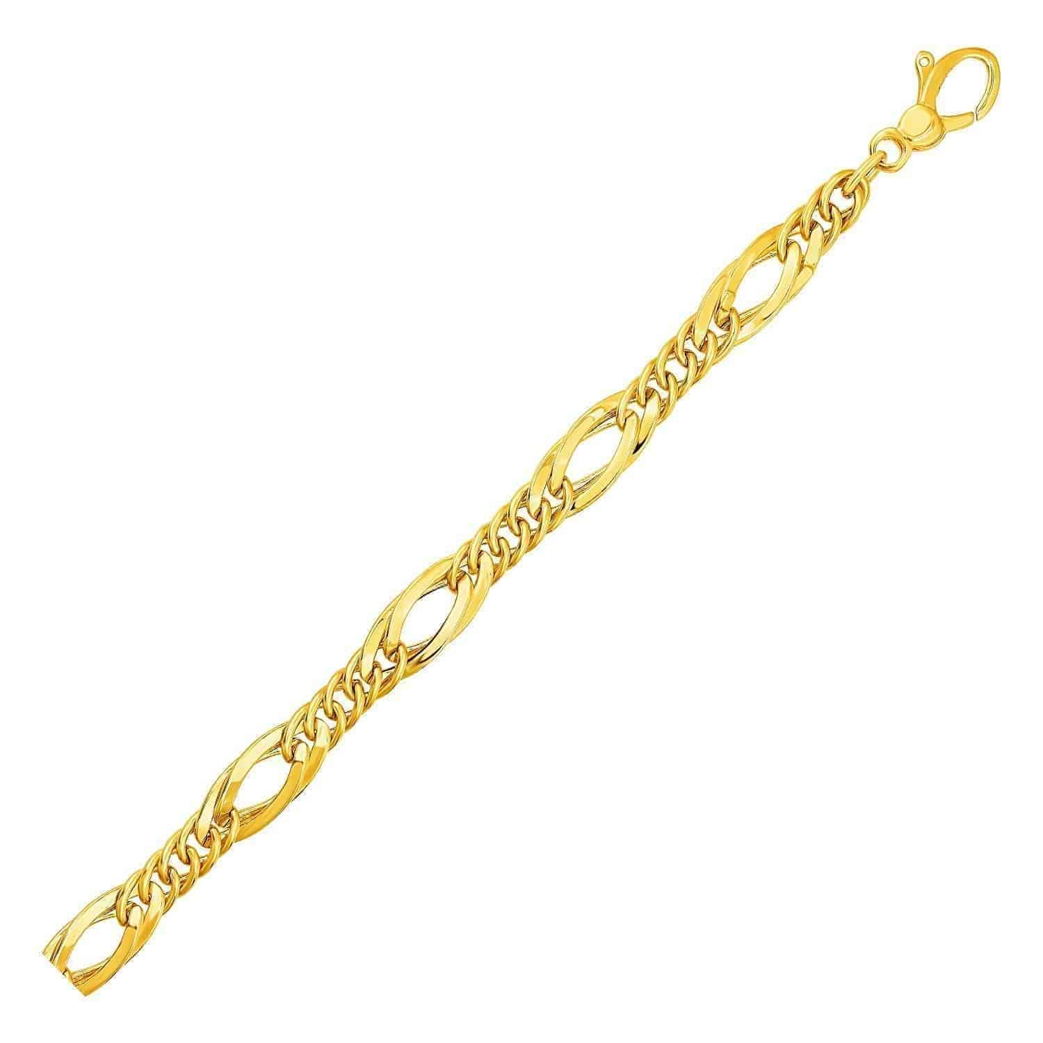 Twisted Oval Chain Bracelet in 14k Yellow Gold
