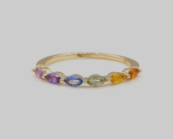 10 Rainbow Rings We Love by Bridal Guide
