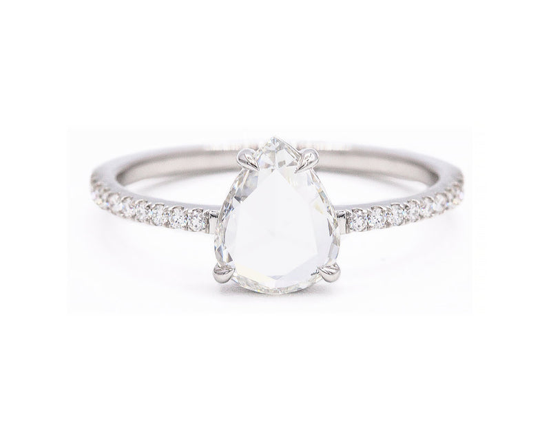 Everett Fine Jewelry 0.77-Carat Rose Cut Diamond Solitaire