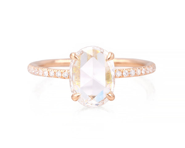 1.38-Carat Rose Cut Oval Taylor Ring