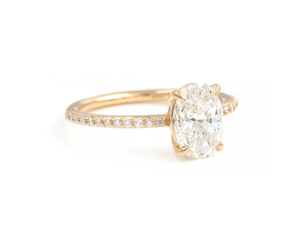 1.60-Carat Brilliant Cut Oval Diamond Ring