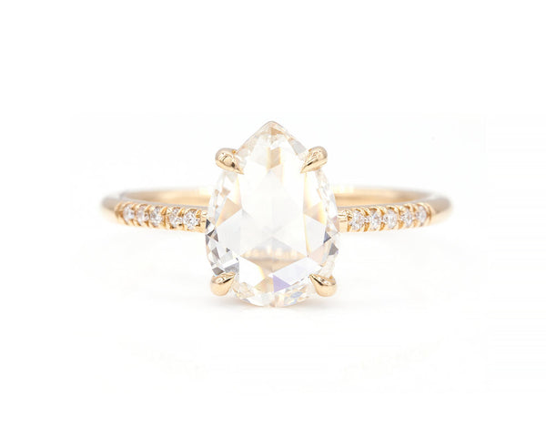 Everett Fine Jewelry 1.63-Carat Rose Cut Pear Diamond Ring