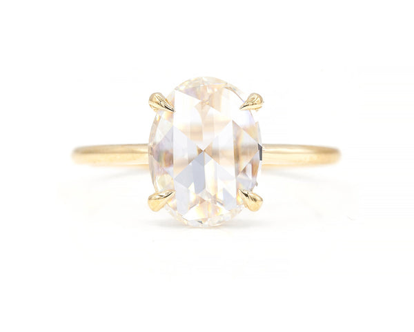 Everett Fine Jewelry 1.86-Carat Rose Cut Oval Diamond Solitaire