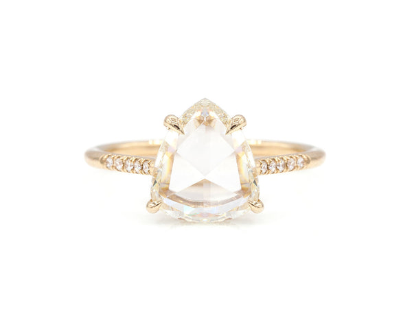 Everett Fine Jewelry 2.48-Carat Rose Cut Pear Ring
