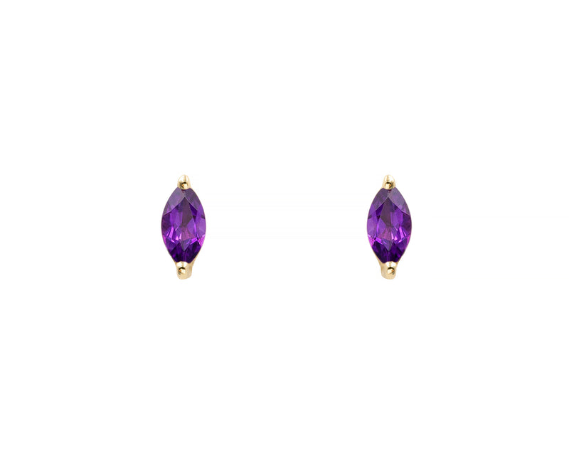 Amethyst Marquise Studs