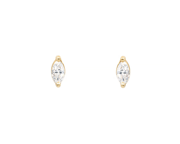 Diamond Marquise Studs