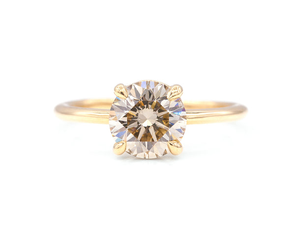 Everett Fine Jewelry 1.55-Carat Champagne Diamond Solitaire
