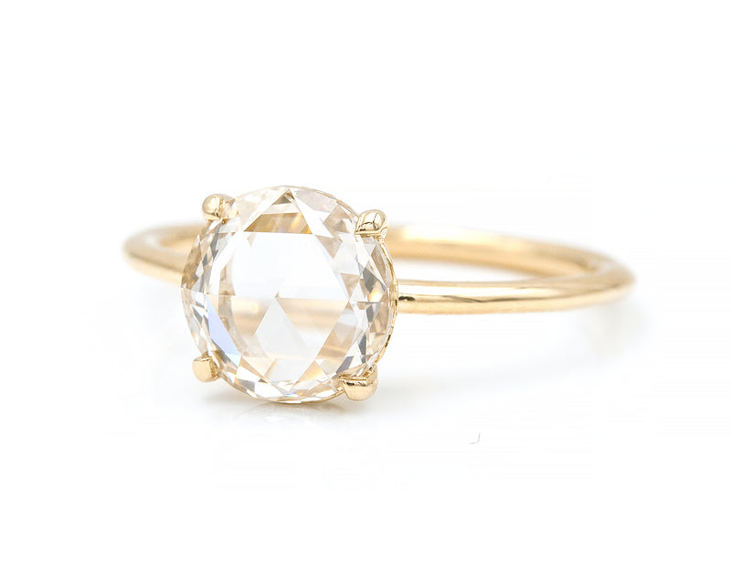1.65-Carat Light Champagne Rose Cut Solitaire