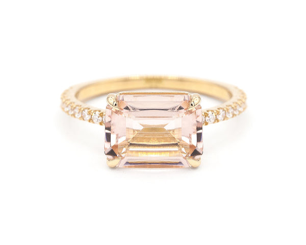 Everett Fine Jewelry East-West Morganite Solitaire