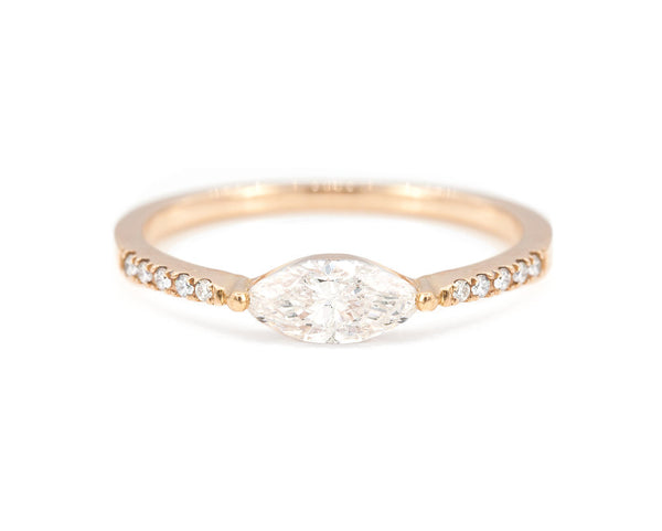 Everett Fine Jewelry East-West Marquise Diamond Ring