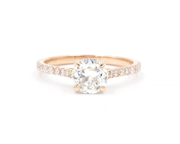 Everett Fine Jewelry 0.80-Carat Rose Gold Solitaire Ring