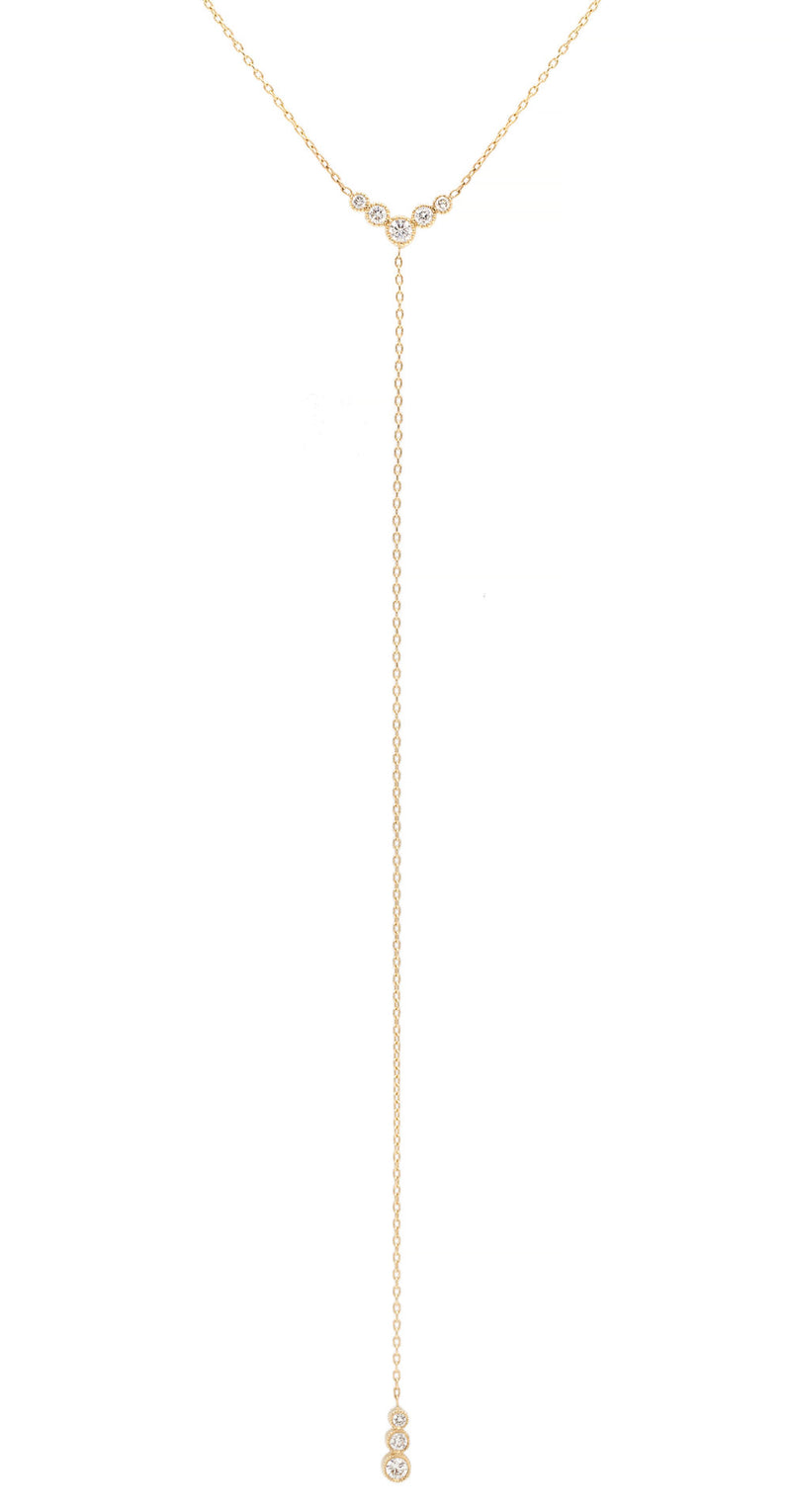 Everett Fine Jewelry White Diamond Lariat Necklace