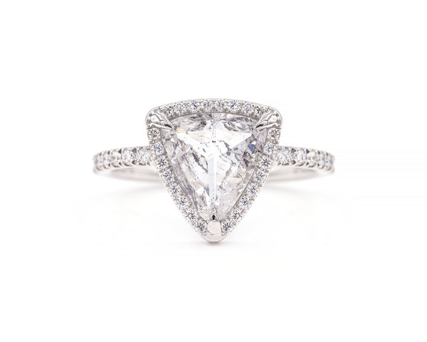 Everett Fine Jewelry 1.83-Carat Salt and Pepper Double Rose Cut Diamond Ring