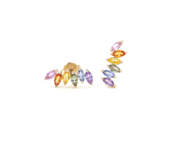 Everett Fine Jewelry Marquise Ear Climbers