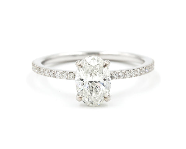 Everett Fine Jewelry 1-Carat White Gold Oval Diamond Solitaire