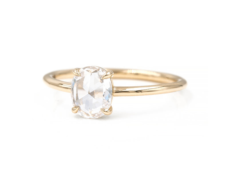 0.60-Carat Rose Cut Oval Solitaire
